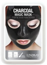 Духи, Парфюмерия, косметика Угольная маска для лица пластифицирующая, очищающая - Lindsay Luxury Charcoal Magic Mask 2 Step Gel Based Modeling Mask