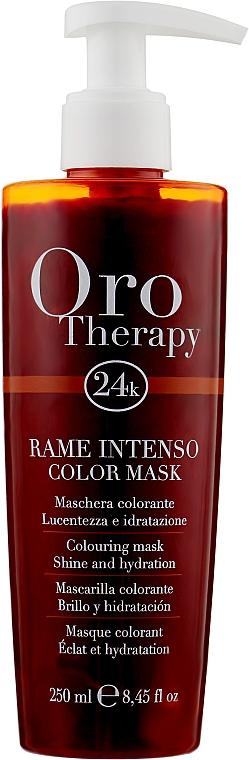 """Тонирующая маска для волос """"Медная"""" - Fanola Oro Therapy Colouring Mask"""