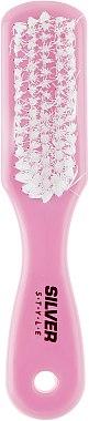 Щетка-пемза педикюрная комбинированная, STK-62, розовая - Silver Style