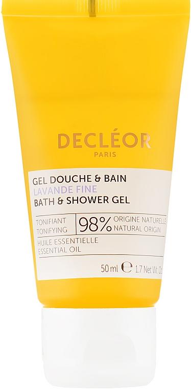 Гель для душа и ванны с эфирным маслом лаванды - Decleor Lavender Fine Relaxing Bath & Shower Gel