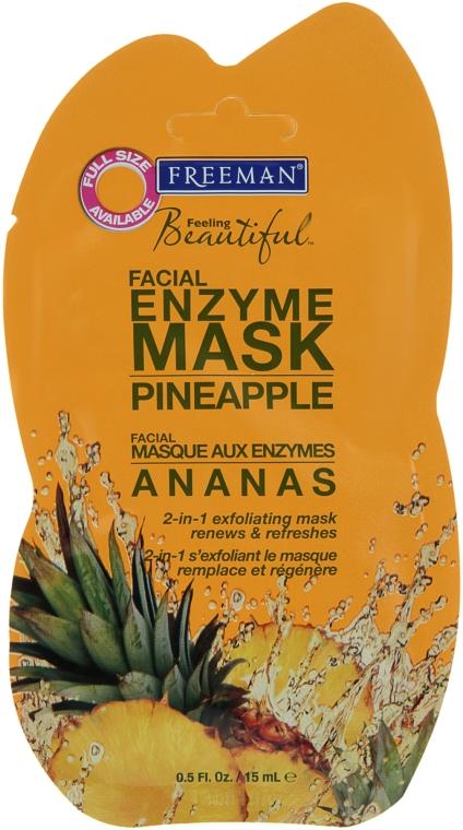 """Маска для лица энзимная """"Ананас"""" - Freeman Feeling Beautiful Pineapple Enzyme Mask"""