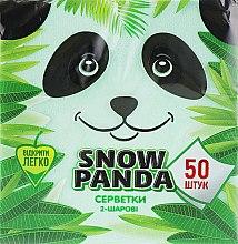 Духи, Парфюмерия, косметика Салфетки бумажные двухслойные, зеленые, 50 шт - Снежная Панда