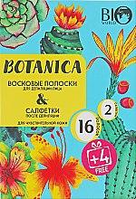 Духи, Парфюмерия, косметика Набор для депиляции чувствительной кожи - Bio World Botanica (полоски/16шт+4шт + саше)