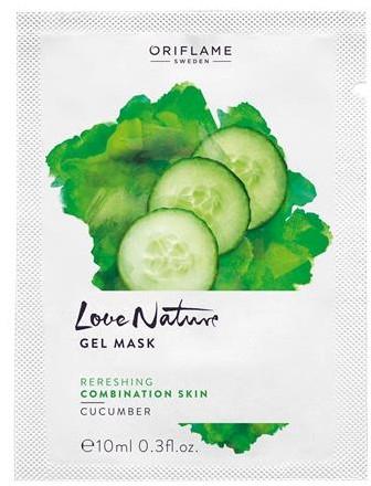 "Увлажняющая маска для лица ""Огурец"" - Oriflame Love Nature Gel Mask"