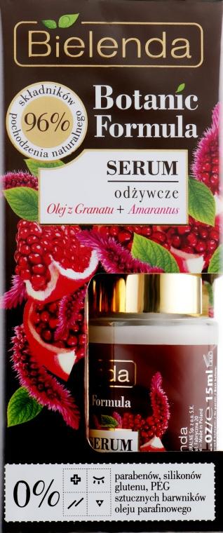 """Сыворотка для лица """"Масло граната и амарантус"""" - Bielenda Botanic Formula Nourishing Face Serum Pomegranate Oil+Amaranth — фото N1"""