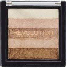 Духи, Парфюмерия, косметика Палетка шиммеров для лица - Makeup Revolution Vivid Shimmer Brick