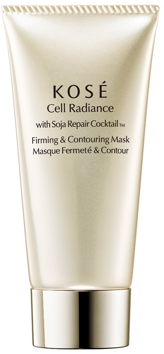 Восстанавливающая маска для лица - KOSE Soja Repair Cocktail Cell Radiance Firming And Contouring Mask
