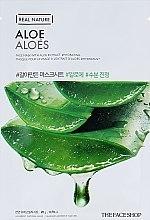 Маска-салфетка для лица c экстрактом алоэ - The Face Shop Real Nature Mask Sheet Aloe — фото N2