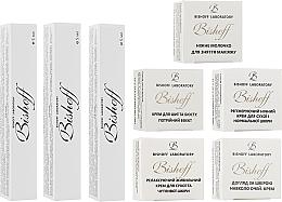 Духи, Парфюмерия, косметика Мини-набор для сухой кожи - Bishoff (cr/2.5ml + night/cr/2.5ml + milk/2.5ml + cr/2.5ml + eye/cr/2.5ml + mousse/5ml + cr/5ml + tonic/5ml)
