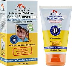 Духи, Парфюмерия, косметика Органический солнцезащитный крем для лица SPF15 - Mommy Care Babies and Children's Facial Sunscreen