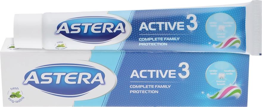 """Зубная паста """"Тройное действие"""" - Astera Active 3 Toothpaste"""
