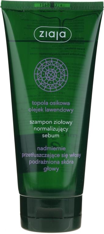 Травяной шампунь нормализирующий выделение кожного сала - Ziaja Shampoo