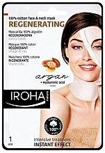 Духи, Парфюмерия, косметика Тканевая маска для лица - Iroha Nature Regenerating Argan Oil 100% Cotton Face & Neck Mask