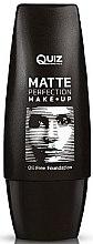 Духи, Парфюмерия, косметика Матовая тонирующая основа - Quiz Cosmetics Matte Perfection Foundation