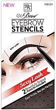 Духи, Парфюмерия, косметика Набор трафаретов для бровей - Kiss Sexy Look Eyebrow Stencils Go Brow