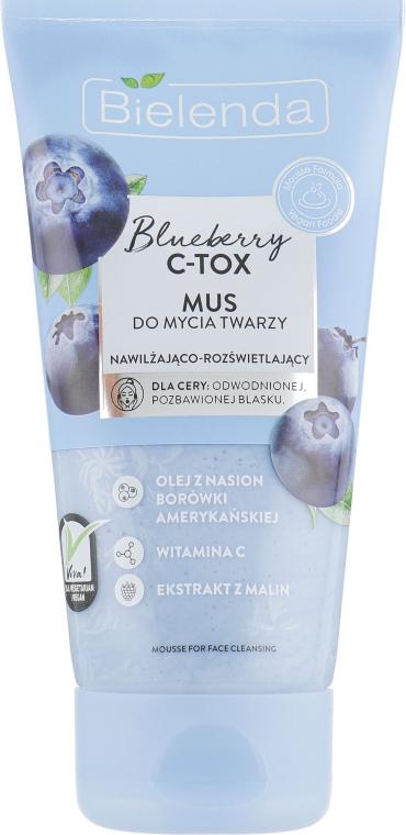 Мусс для лица - Bielenda Blueberry C-Tox Face Wash