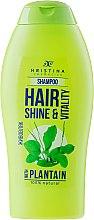 Духи, Парфюмерия, косметика Шампунь для волос - Hristina Cosmetics Hair Shine & Vitality With Plantain Shampoo