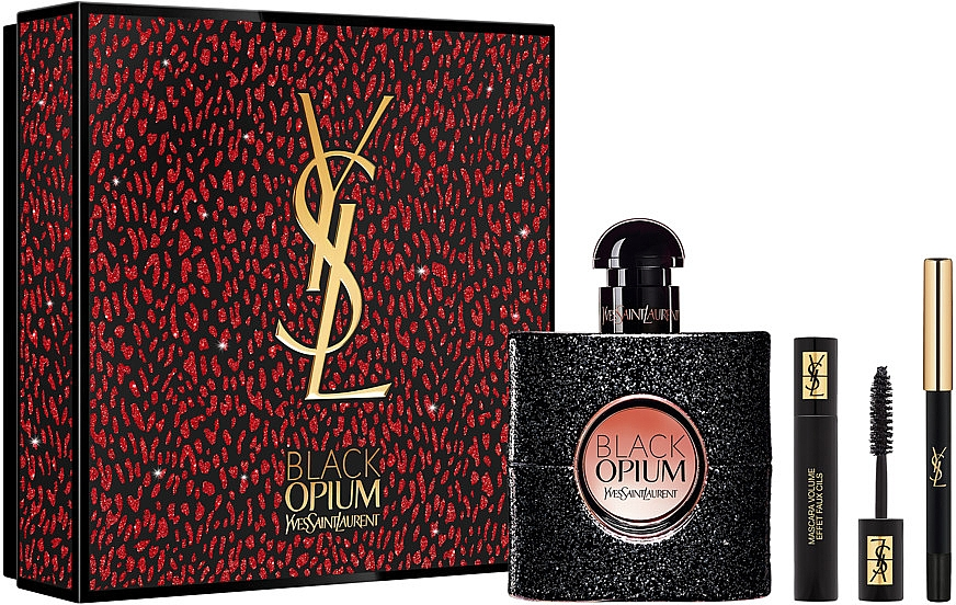 Yves Saint Laurent Black Opium - Набор (edp/50ml + mascara/2ml + eye/pencil/0,2g)