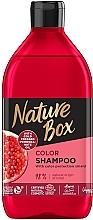 Духи, Парфюмерия, косметика Шампунь для окрашенных волос с гранатовым маслом холодного отжима - Nature Box Color Vegan Shampoo with cold pressed Pomergranate oil