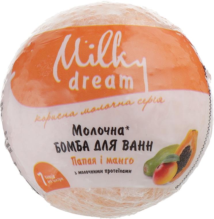 """Бомба для ванн """"Папайя и манго"""" с молочными протеинами и маслом льна - Milky Dream"""