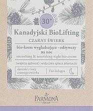 Духи, Парфюмерия, косметика Разглаживающий питательный ночной крем 30+ - Farmona Canadian BioLifting Black Spruce