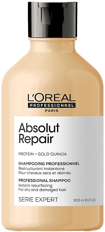 Шампунь для интенсивного восстановления поврежденных волос - L'Oreal Professionnel Serie Expert Absolut Repair Gold Quinoa + Protein Shampoo