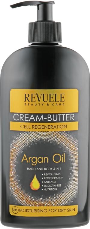 Крем-масло для рук и тела 5 в 1 - Revuele Argan Oil Cream-Butter