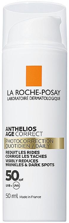 Антивозрастное солнцезащитное средство для лица против морщин и пигментации, SPF50 - La Roche-Posay Anthelios Age Correct SPF50