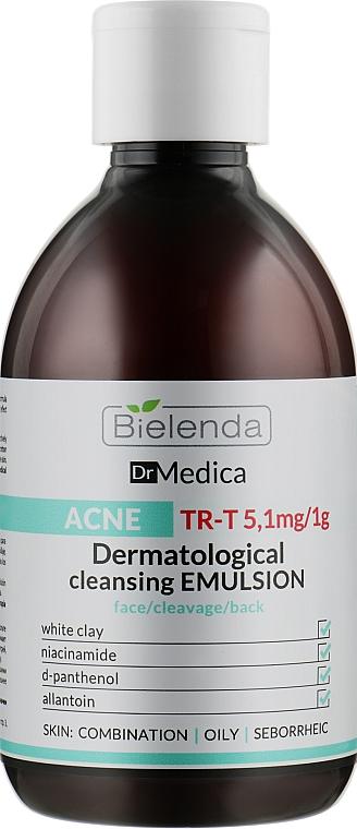Дерматологическая очищающая эмульсия анти-акне - Bielenda Dr Medica Acne Dermatological Cleansing Emulsion For Face, Cleavage, Back