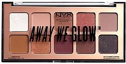 Парфумерія, косметика Палетка тіней для повік - NYX Professional Makeup Away We Glow Shadow Palette