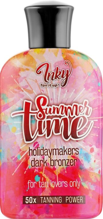 Крем для загара в солярии с бронзантами, с витаминной эссенцией и подтягивающим эффектом - Inky Summer Time 50x Tanning Power