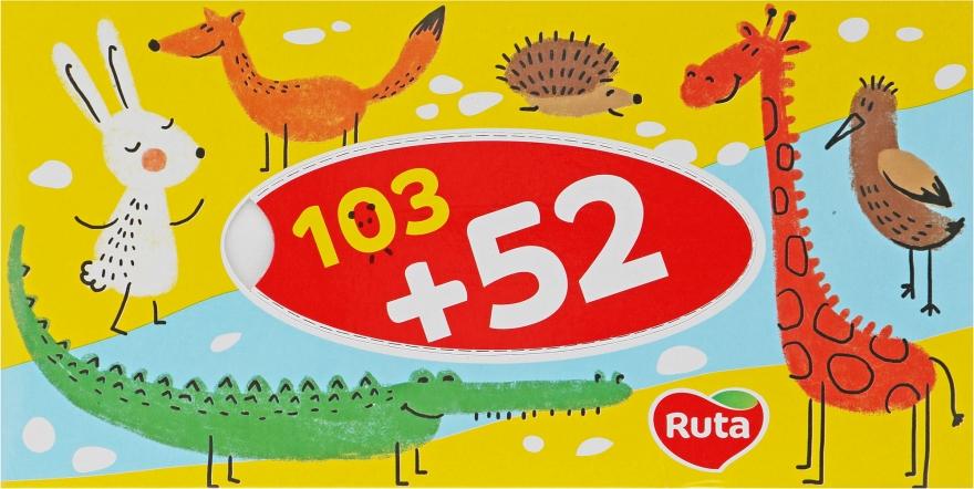 Косметические салфетки 155 шт., желтые - Ruta Kids