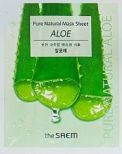 Духи, Парфюмерия, косметика Успокаивающая маска для лица с алое вера - The Saem Pure Natural Mask Sheet Aloe