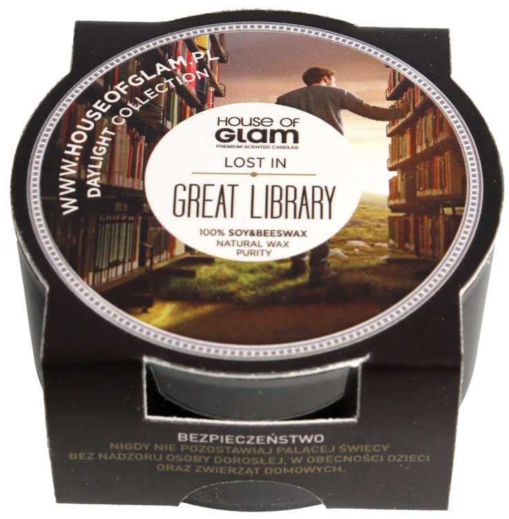 Ароматическая свеча - House of Glam Lost In Great Library Candle (мини)