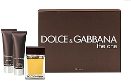 Парфумерія, косметика Dolce&Gabbana The One for Men - Набір (edt 100ml + a/sh balm 50ml + sh/gel 50ml)