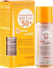 Духи, Парфюмерия, косметика Солнцезащитный крем - Bioderma Photoderm Nude Touch SPF 50+