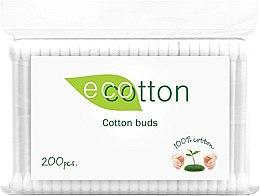 Духи, Парфюмерия, косметика Ватные палочки в полиэтиленовой упаковке - Ecotton Cotton Buds