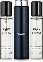 Духи, Парфюмерия, косметика Chanel Bleu de Chanel - Туалетная вода (edt/20ml + refilles/2x20ml)