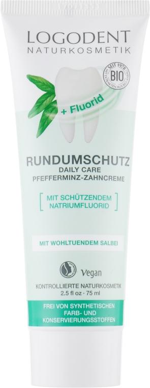 БИО-паста зубная освежающая с мятой и с фтором - Logona Oral Hygiene Products Toothpaste