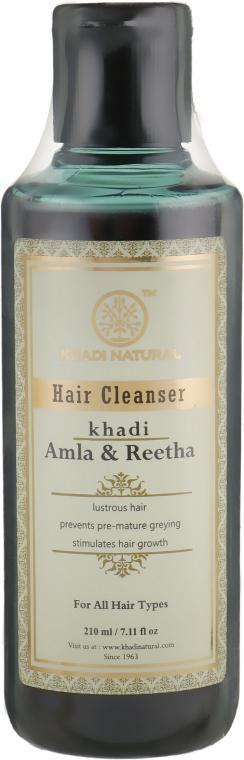 "Натуральный травяной шампунь ""Амла и Ритха"" - Khadi Natural Ayurvedic Amla & Reetha Hair Cleanser"