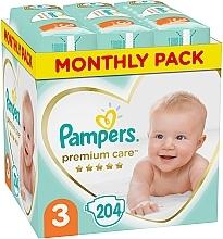 Духи, Парфюмерия, косметика Подгузники Pampers Premium Care Размер 3 (Midi), 6-10кг, 204 шт - Pampers