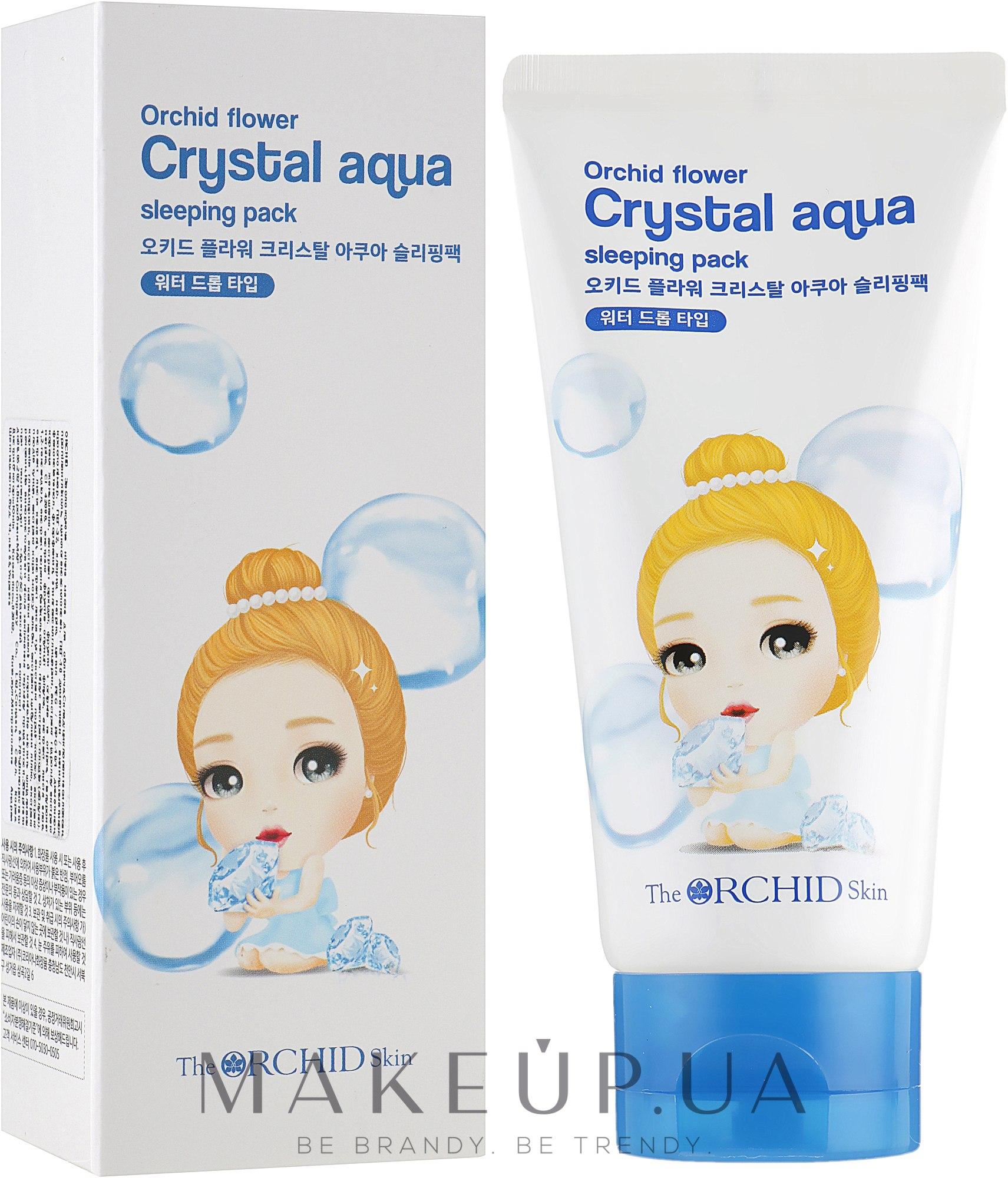 Увлажняющая ночная маска для лица - The Orchid Skin Orchid Crystal Aqua Sleeping Pack — фото 120ml