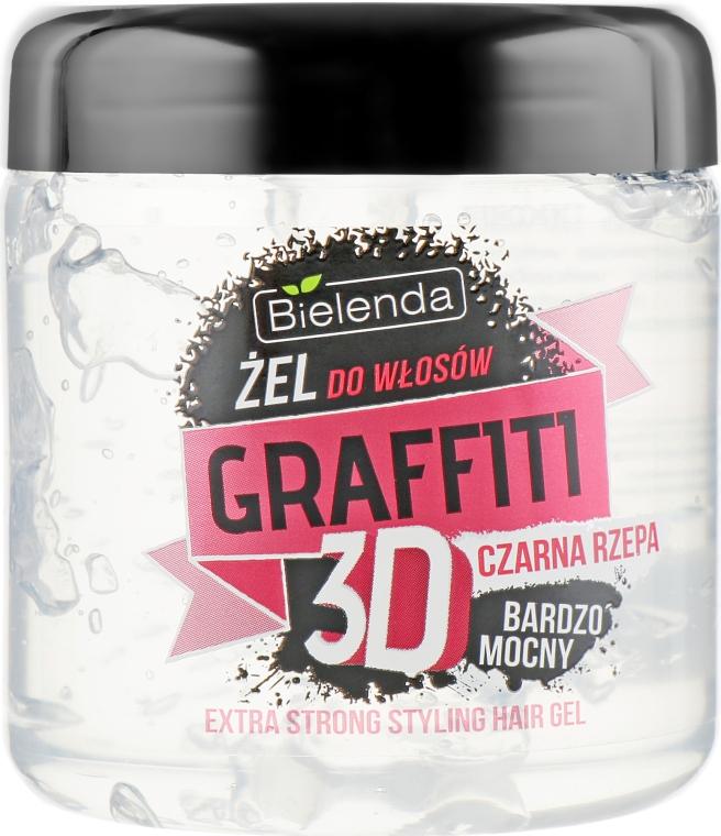 Гель для волос с черной репой - Bielenda Graffiti 3D Extra Strong Styling Hair Gel