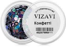 Парфумерія, косметика Конфеті для дизайну нігтів - Vizavi Professional