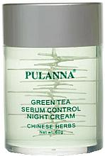 """Духи, Парфюмерия, косметика Крем для лица на основе зеленого чая """"Ночной"""" - Pulanna Green Tea Sebum Control Night Cream"""