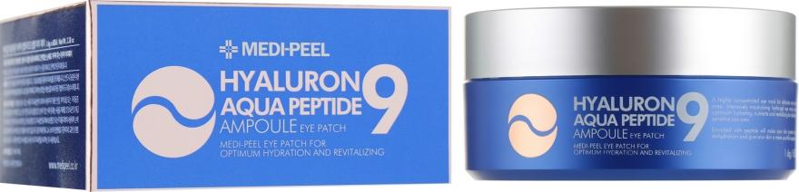 Гидрогелевые патчи глубокого увлажнения с пептидами - Medi Peel Hyaluron Aqua Peptide 9 Ampoule Eye Patch