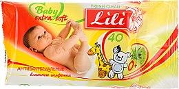 Духи, Парфюмерия, косметика Влажные антибактериальные салфетки для детей с экстрактом алоэ вера - Lili