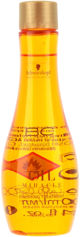 Масло для нормальных и жестких волос - Schwarzkopf Professional ВС Bonacure Oil Miracle Finishing — фото N1