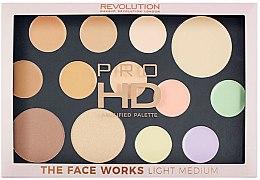 Духи, Парфюмерия, косметика Палетка для лица - Makeup Revolution Pro HD The Works Palette