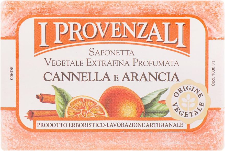 Мыло твердое растительное Корица и Апельсин - I Provenzali Vegetale